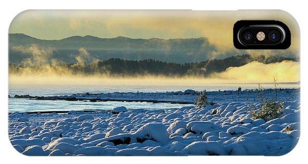 Snowy Shoreline Sunrise IPhone Case