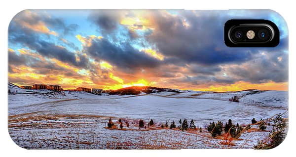 iPhone Case - Snowy Sunset by David Patterson