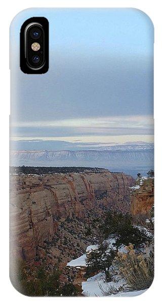 Snowy Sunset IPhone Case