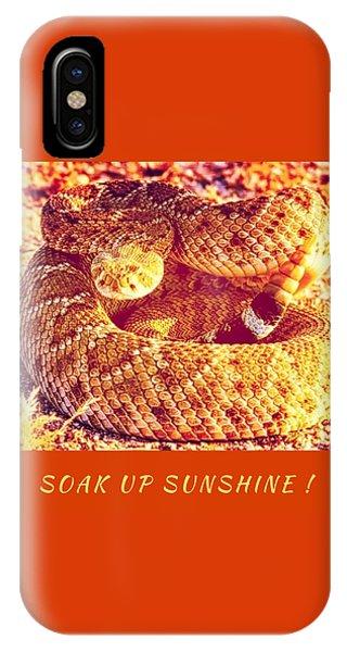 Soak Up Sunshine IPhone Case