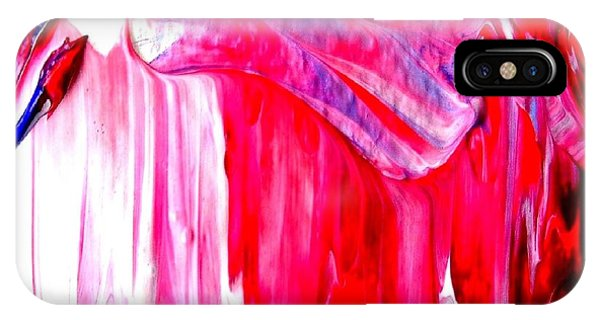 IPhone Case featuring the painting Soaring In Red Abstract Maha by VIVA Anderson