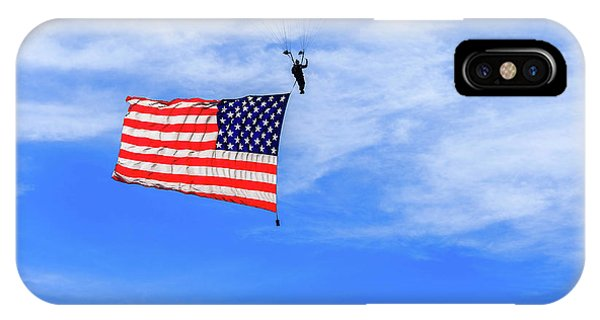 IPhone Case featuring the photograph Socom Flag Jump by Doug Camara