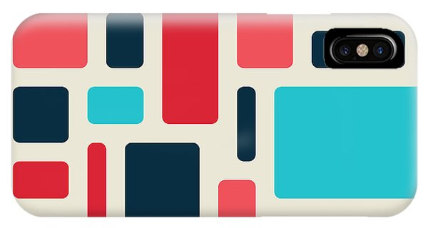 Seamless iPhone Case - Soft Geometric Pattern In Retro by Vector Fx