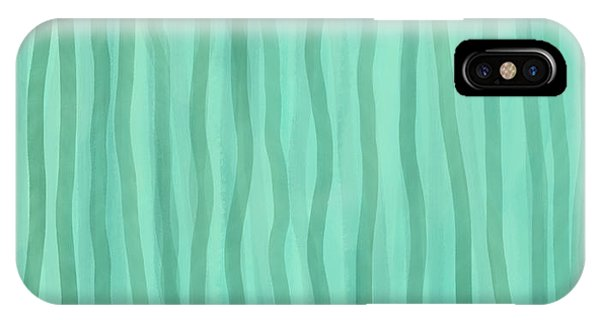 Soft Green Lines IPhone Case
