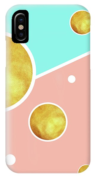 Pastel Colors iPhone Case - Soft Pink, Blue And Gold Pattern - Pastel Colors - Abstract Pattern Design - Modern, Minimal by Studio Grafiikka