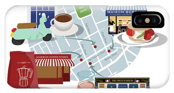 Bean Town iPhone Case - Soho Classics For Coffee, Cake And Wine by Claire Huntley