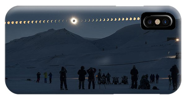 20th iPhone Case - Solar Eclipse Sequence In Svalbard On by Thanakrit Santikunaporn