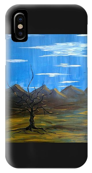 IPhone Case featuring the painting Solo And Beautiful  by Aaron Bombalicki