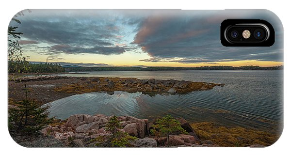 IPhone Case featuring the photograph Somes Sound Sunset by Rick Hartigan