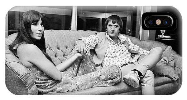 Sonny And Cher iPhone Case - Sonny And Cher        by Kent Gavin