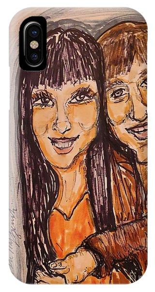 Sonny And Cher iPhone Case - Sonny And Cher I Got You Babe by Geraldine Myszenski