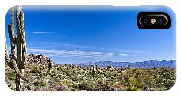 Cacti iPhone Case - Sonoran Desert Landscape In Scottsdale by Tom Roche