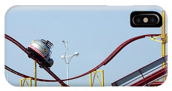 Southport.  The Fairground. Crash Test Ride. IPhone Case