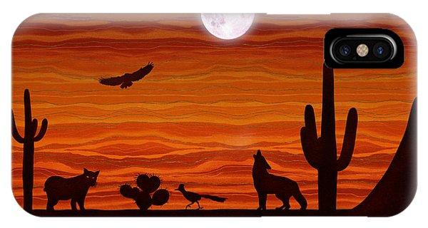 Southwest Desert Silhouette IPhone Case