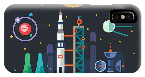 Smoke Fantasy iPhone Case - Space Landscape, Rocket Launch On The by Beresnev