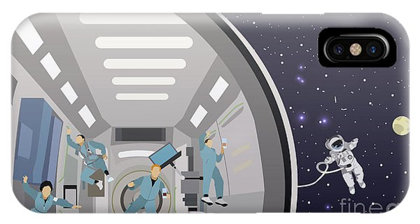 Space iPhone Case - Space Mission Concept Vector by Skypics Studio