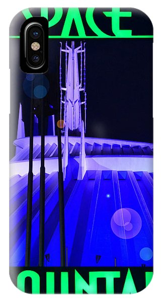 iPhone Case - Space Mountain E Ticket Poster by David Lee Thompson