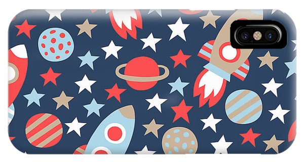 Planet iPhone Case - Space Seamless Pattern by Texturis
