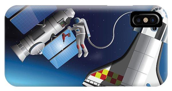 Astronaut iPhone Case - Space Service by Nikola Knezevic