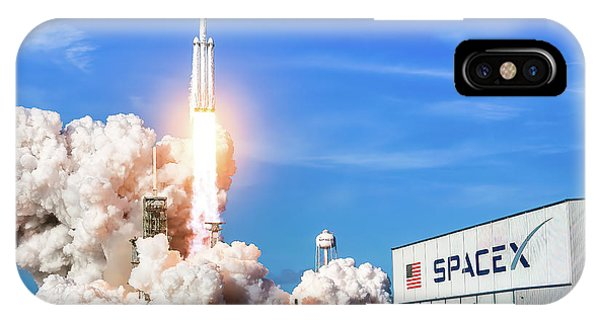 Liftoff iPhone Case - Spacex Falcon Heavy Launch 1 by Spacex