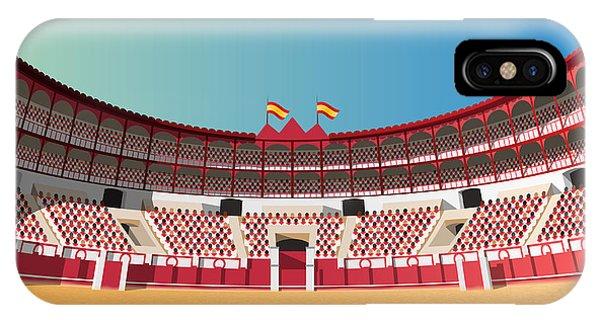 Famous People iPhone Case - Spanish Bullfight Arena by Nikola Knezevic