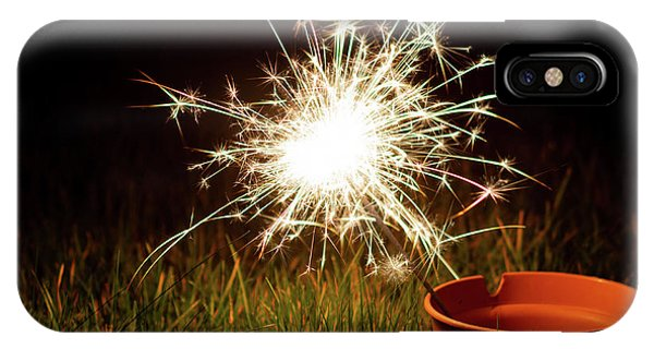 IPhone Case featuring the photograph Sparkler In A Plant Pot by Scott Lyons