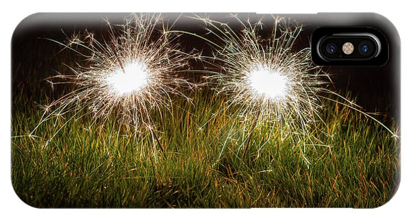 IPhone Case featuring the photograph Sparklers In The Grass by Scott Lyons