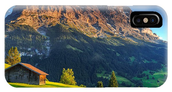 Spring Mountains iPhone Case - Spectacular Swiss Alpine Landscape With by Gaspar Janos