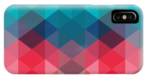 Triangles iPhone Case - Spectrum Geometric Background Made Of by Markovka