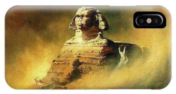 Damage iPhone Case - Sphinx by Karl Wilhelm Diefenbach