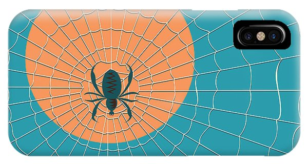 Danger iPhone Case - Spider In A Web On A Background Of The by Zhukov
