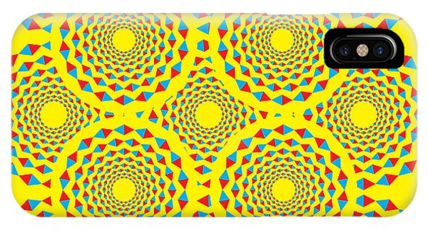Illusion iPhone Case - Spin Diamonds by Mark Grenier