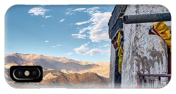 IPhone Case featuring the photograph Spituk Gompa by Whitney Goodey