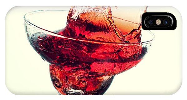 Mixed iPhone Case - Splashing Margarita Cocktail by Nikkytok
