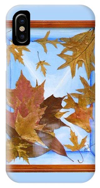 Splattered Leaves IPhone Case