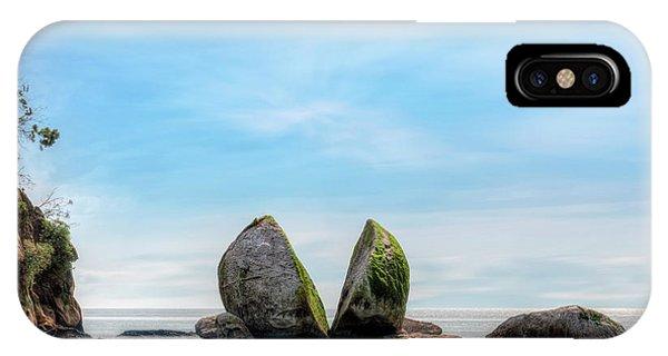 Split Rock iPhone Case - Split Apple Rock - New Zealand by Joana Kruse