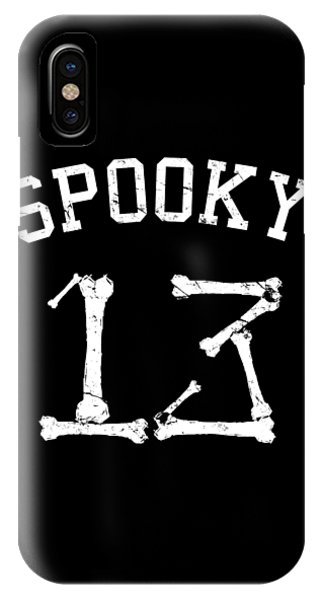 Spooky 13 Halloween Jersey IPhone Case