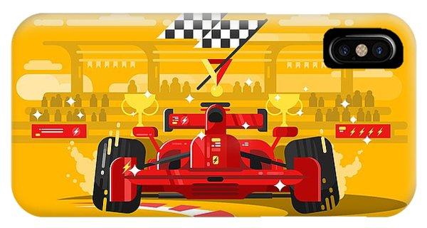 One iPhone Case - Sport Car In Race by Kit8.net