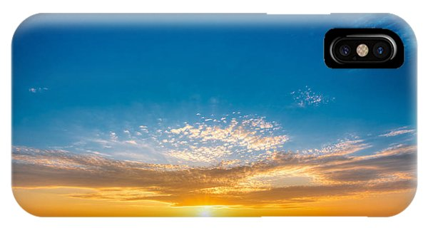 Cloudscape iPhone Case - Spring Field Meadow Road Under Sunset by Grisha Bruev