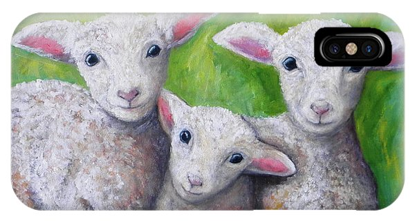 Wheeler Farm iPhone Case - Spring Lambs by JoAnn Wheeler