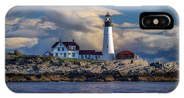Navigation iPhone Case - Spring Morning At Portland Head Lighthouse by Rick Berk