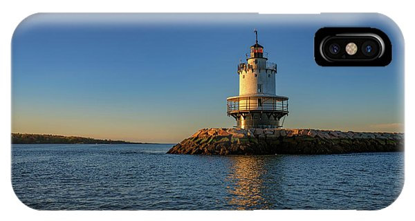 Navigation iPhone Case - Spring Point Ledge Lighthouse On A Spring Morning by Rick Berk