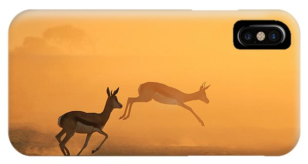 Quick iPhone Case - Springbok - African Wildlife Background by Stacey Ann Alberts
