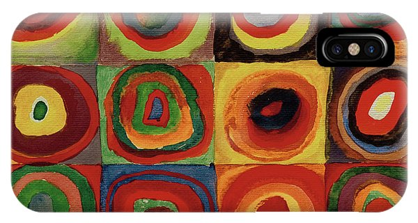 Russian Impressionism iPhone Case - Squares With Concentric Circles 1913  by Wassily Kandinsky