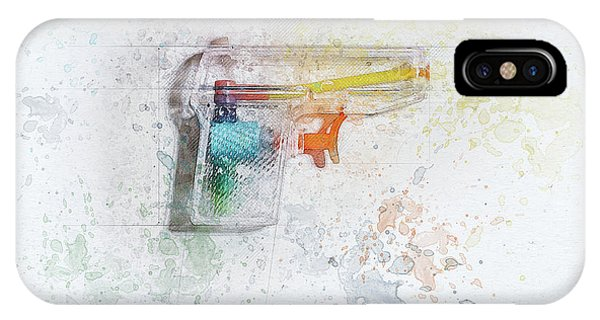 Outline iPhone Case - Squirt Gun Painted by Scott Norris