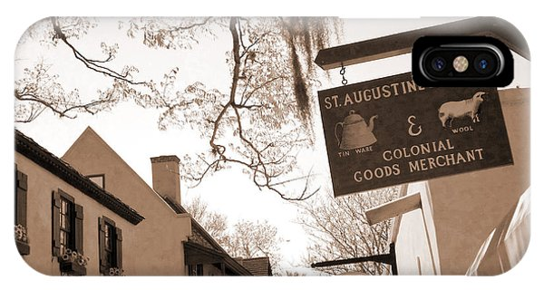 iPhone Case - St Augustine Sepia Looking Up by Carol Groenen