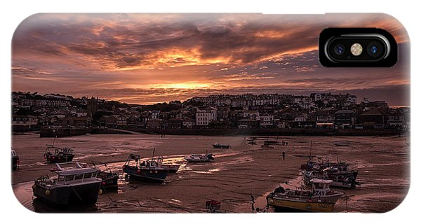 St Ives Cornwall - Harbour Sunset IPhone Case