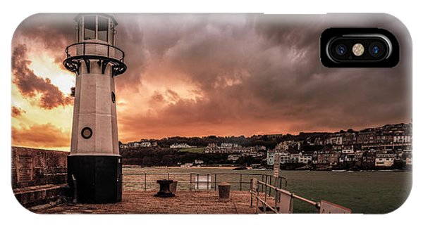St Ives Cornwall - Lighthouse Sunset IPhone Case