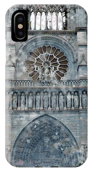St Joan Of Arc Watch Over Notre Dame IPhone Case