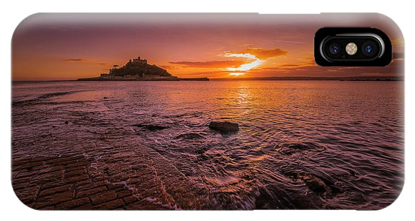 St Michael's Mount - January Sunset IPhone Case